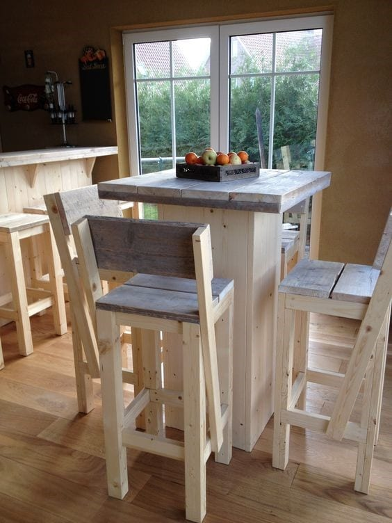Pallet Wood Stool Chair 3