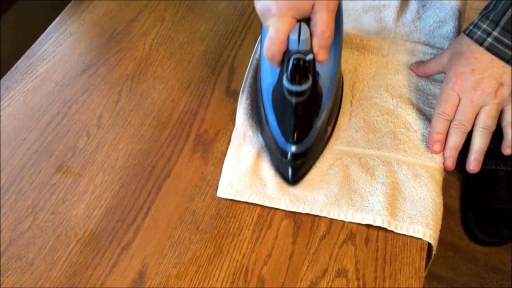 Position The Iron On The Towel