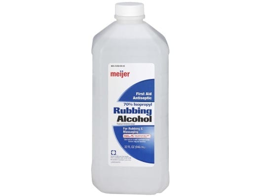 Soak A Cloth In Rubbing Alcohol And Gently Rub This At The Area