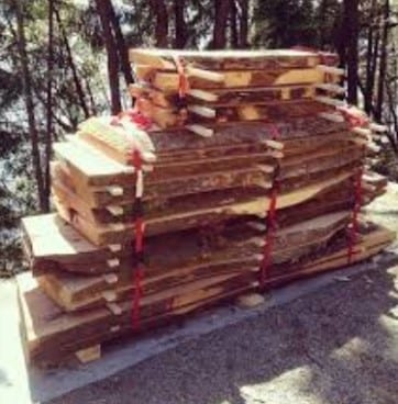 Step 2 Put Freshly Cut Lumber On The Logs To Avoid Touching The Ground