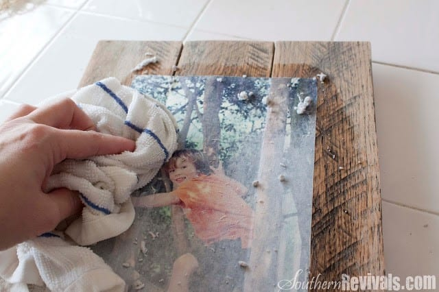 Step 4 Get The Damped Cloth And Soak It On To The Paper