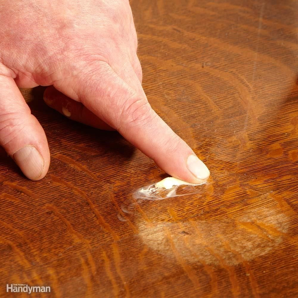Step 4 Use Bare Fingers To Press The Wood Putty
