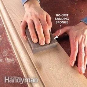 Lightly Sanding The Stained Area