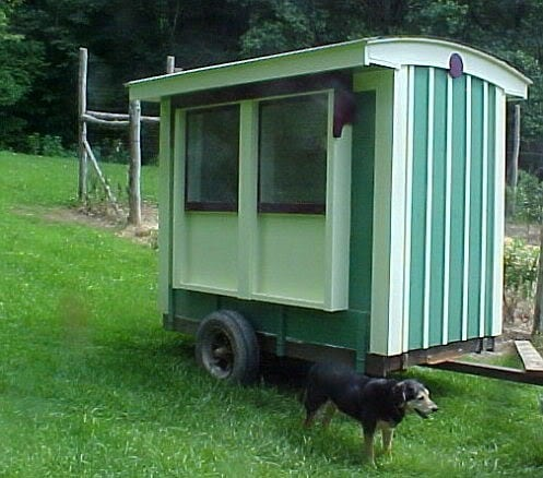Cheerful Mobile Chicken Coop