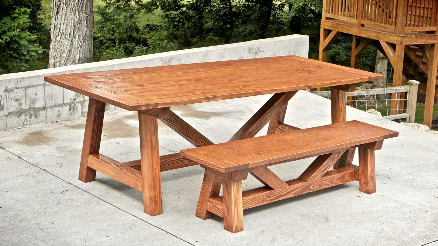 Farmhouse Table And Benches For Less Than 250