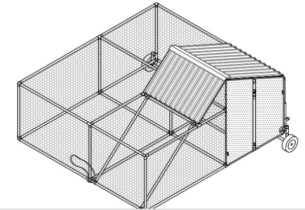 Moveable Poultry Pen