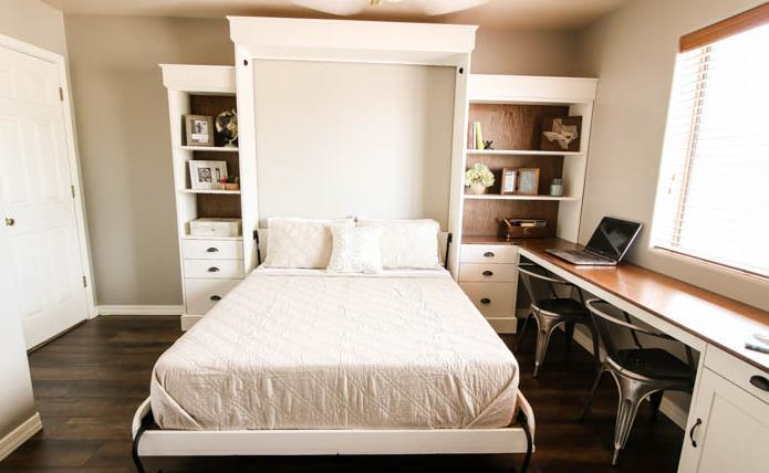 Murphy Bed With A Working Desk