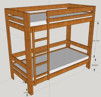 Simple And Robust Bunk Bed With The Help Of The Lumber Store