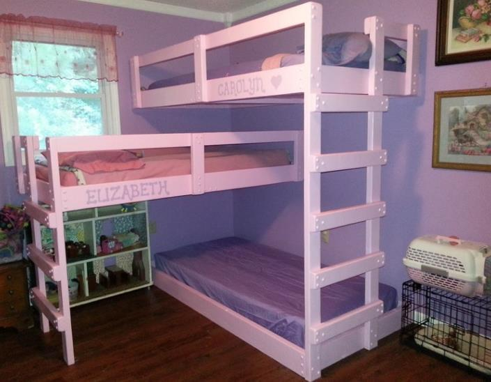 Triple Bunk Bed Facing A Different Direction