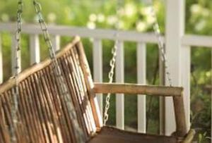 Turning The Old Bench Into A Porch Swing