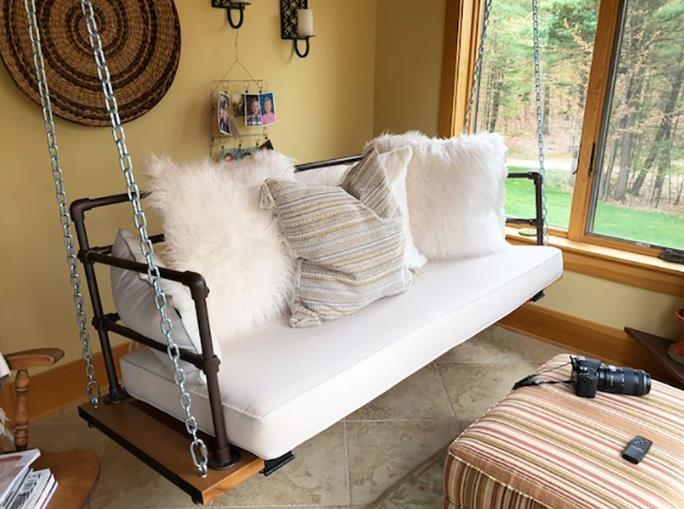 Unique Porch Swing From An Upcycled Door