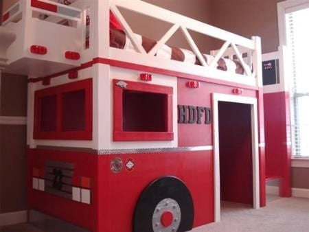 A Fire Engine Loft Bed