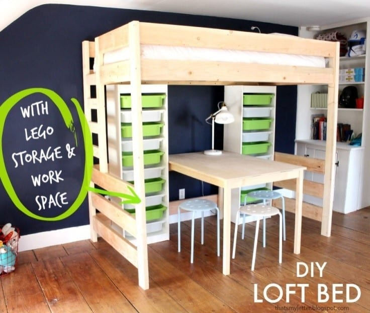 Diy Loft Lego Bed Design