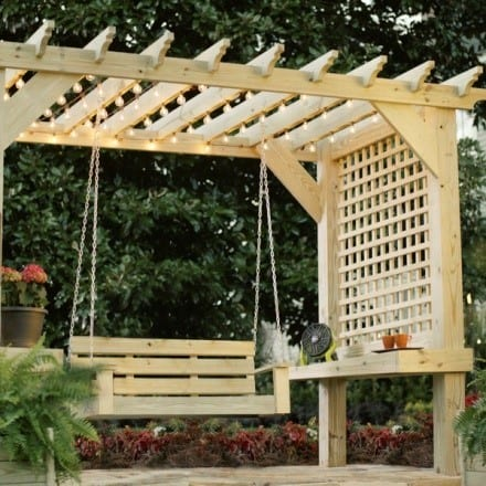 Diy Pergola Swing Plan