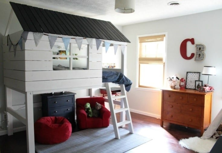 Kids Club House Loft Bed Design