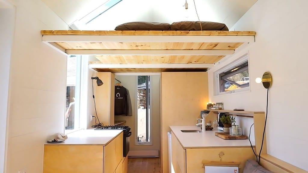 Modern Tiny House With Hidden Bathroom And Space Saving Furniture