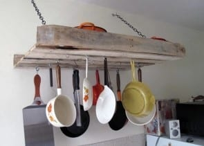 Pallet Pot Rack By A Green Point Kitchen