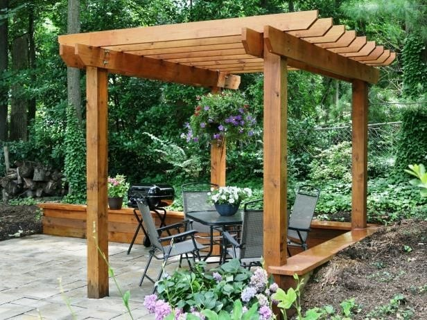 The Gorgeous Red Pergola