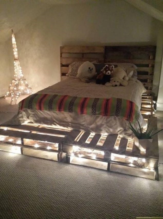 Warm Lights For A Pallet Bed