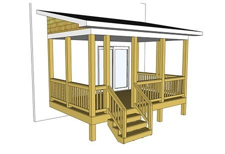 Covered Porch Deck