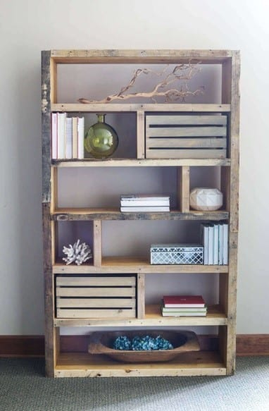 Crates And Pallet Wood Shelf