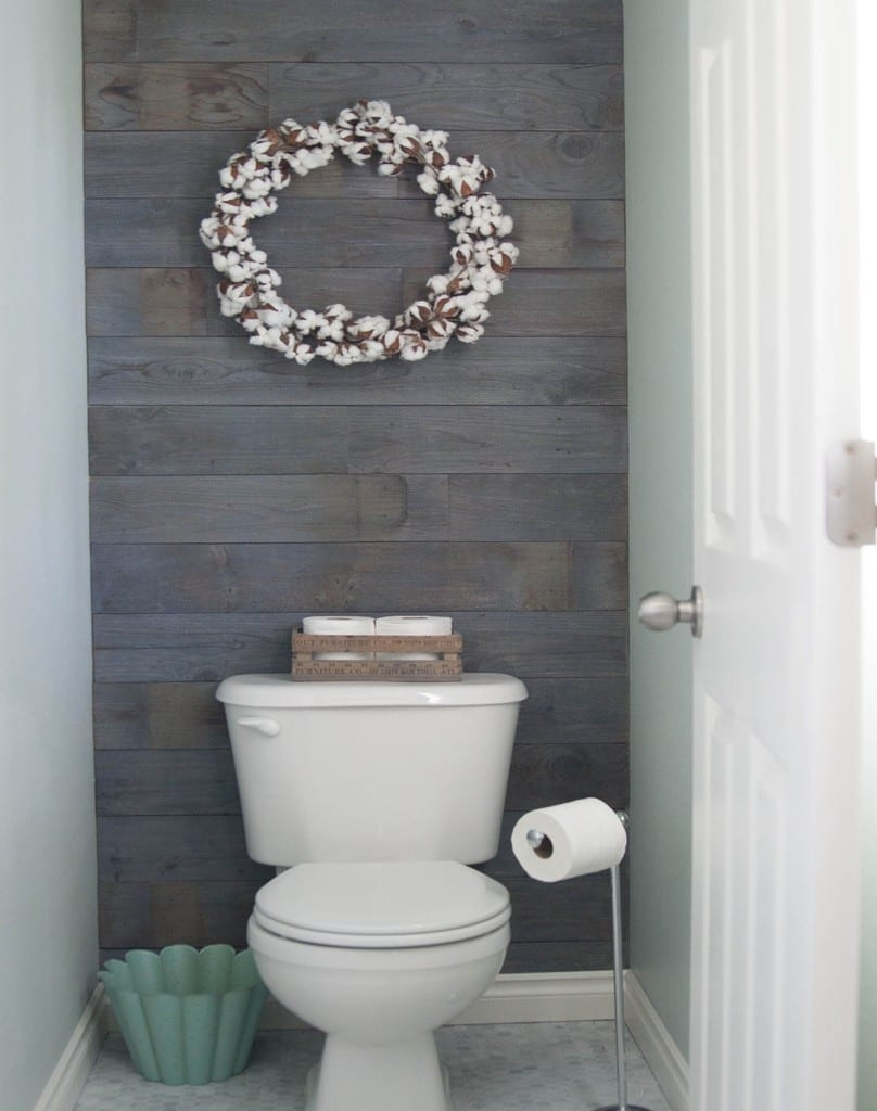 Diy Bathroom Plank Wall