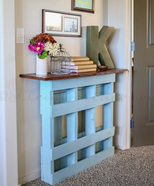 Diy Pallet Console Table By Kleinworth