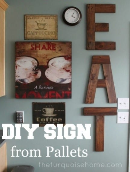 Diy Sign From Pallets