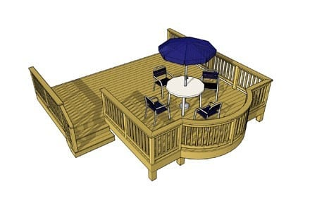 Deck With Curved Bay