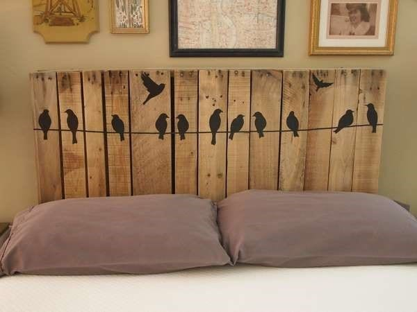 Fun Wooden Pallet Headboard