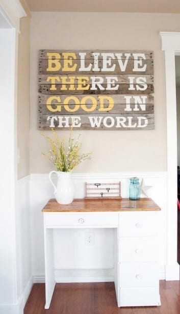 Inspirational Quote Wood Pallet Art