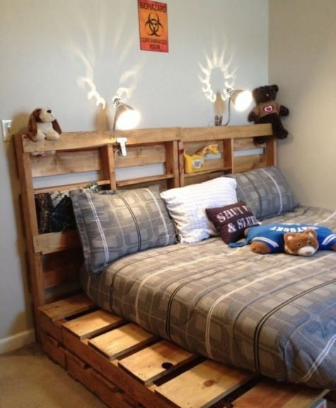 Pallet Bed Frame For Kids Room