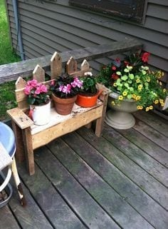 Pallet Bench For Plants