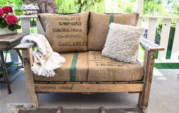 Rustic Pallet Sofa By Funky Junk Interiors