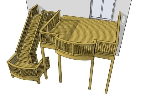 Simple High Elevation Deck