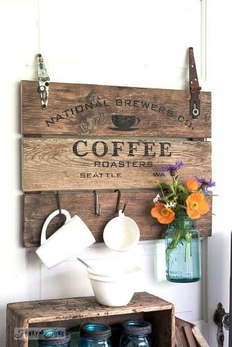 Stained And Painted Pallet Wood Sign