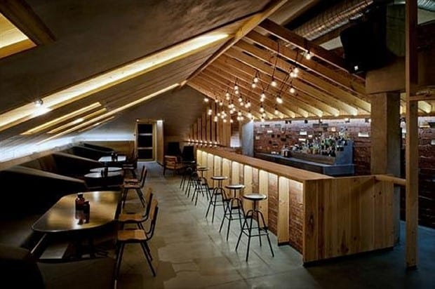 Very Large Bar Made From Wooden Pallets
