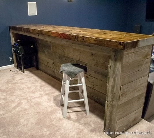 Very Sturdy Pallet Bar Design