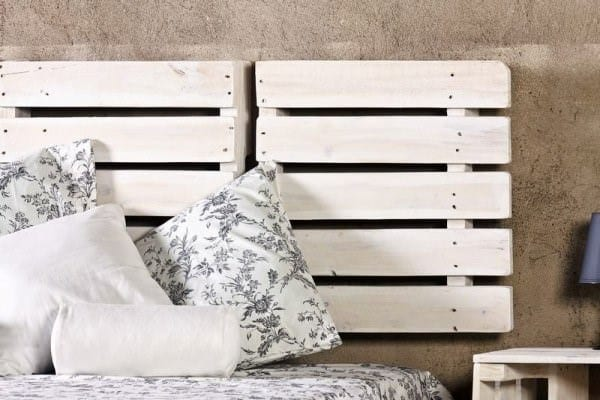 White Pallets As Bedboard