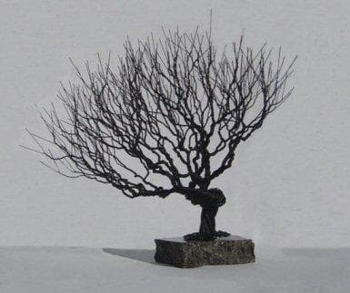 Natural Style Wire Bonsai Tree Sculpture