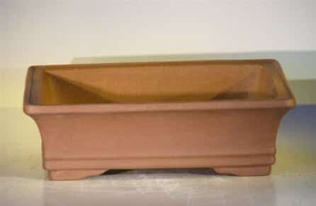Ceramic Bonsai Pot - Rectangle Unglazed 12x9.625x3.5