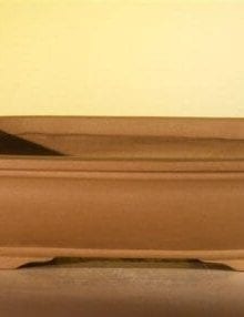 Tan Unglazed Ceramic Bonsai Pot - Rectangle 10 x 7.825 x 3.125