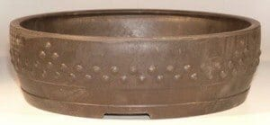 Brown Mica Bonsai Pot - Round 14 x 3.75 OD 13.0 x 3.0 ID