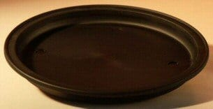 7 Round - Heavy Duty Plastic Humidity/Drip Bonsai Tray - Small 7.0 x 1.0