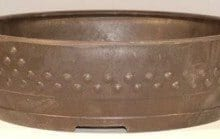 Brown Mica Bonsai Pot - Round 11.0 x 3.25 OD 10.0 x 2.5 ID