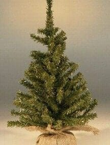 Artificial Christmas Bonsai Tree For Sale - Undecorated-15 Tall