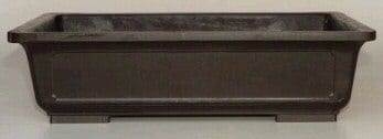 Brown Mica Bonsai Pot - Rectangle 9.5 x 7.0 x 3.75 OD 8.25 x 5.75 x 2.75 ID